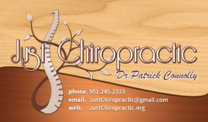 Just Chiropratic Business Card Design and Print by Ignite Era